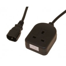 Power cable - IEC C14 plug - 13A socket - 2 metre