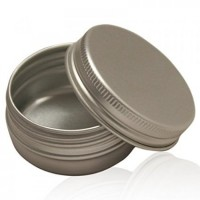 40 x 250ml Aluminium Tin Jar pots Containers With Screw Lids Made in UK