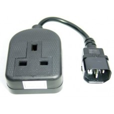 10 x Power cable - IEC C14 plug - 13A socket - 45 cm