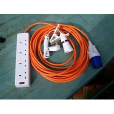 CAMPING ELECTRIC HOOK UP 20 MTR + 2 MTR CLIP ON LIGHT